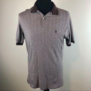 Polo by Ralph Lauren - Herringbone Polo Shirt L